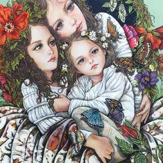608 Me gusta, 15 comentarios - Monica Fernandez Pintora ( en I. Mexican Artists, Drawing Skills, Fairy Art, Colorful Drawings, Portrait Art, Contemporary Paintings, Collage Art, Art Girl, New Art