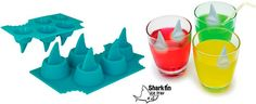 Shark fin floating ice cubes are cool!