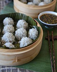 Pearl Rice Balls with Ginger-Sesame Sauce Recipe