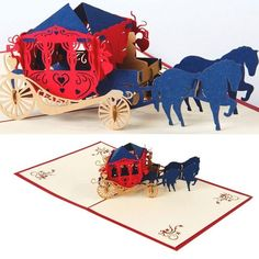 3D Diy Wedding Carriage Pop Up Greeting Card Wedding | ShaadiMagic