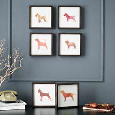 Dog Print Wall Art - Basset Hound | west elm