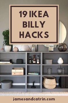 The Ikea Billy is really easy to hack. Here we showcase some of the best Ikea Billy hacks available to inspire you. Hopefully you can use some of these great Ikea Billy hack ideas for your own project. Billy Regal Hack, Ikea Billy Hack, Ikea Billy Bookcase Hack, Hacks Ikea, Ikea Furniture Hacks, Home Furniture, Ikea Hack Nightstand, Antique Furniture, Outdoor Furniture