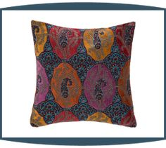 Elias Decorative Pillows in Carnival by Michael Amini