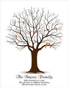 Family Tree Personalized Gift for Grandparents by CustombyBernolli