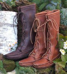 Leather Moccasins | Deerskin Moccasins - For Men - For Women - For Kids