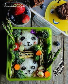 Lunch Box: Panda Bento  #bento #dosirak #homemade #pandabento