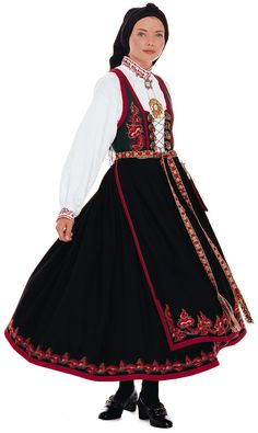 "The traditional costume of Norway is called ""bunad."" There are about 200 different types, each one representing a different part of the country. The word ""bunad"" really covers two different types of dress: The first is the traditional garb of a particular location (some of which can be traced back a long, long time – the ones used today usually represent the ""fanciest"", holiday version of the dress) and a sort of ""party dress"" developed in the early 1900s during Norwegian national romanticism."
