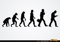 human-transformation-from-primates-silhouettes_72147496115.jpg (626×442)