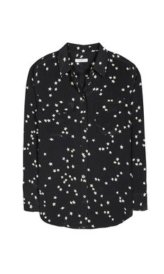 1cfce9d458a8d Equipment SLIM SIGNATURE SILK SHIRT. Black StarStar PrintPrinted ...