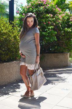 Look do dia e um truque pra deixar suas saias mais compridas. Preggo. Maternity. Pregnant.