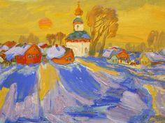 Vesper chores Smirnov Victor 1990 30х40