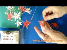 การสอนทำดอกคาร์เนชั่นด้วยดิน Making Canation Flower with clay - YouTube