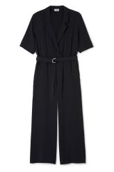 The Jimi Jumpsuit has a V-shaped neckline and a belted waist for a flattering fit. It has short sleeves and cropped wide legs.- Size Small measures 112 cm in chest circumference and 64,50 inseam.