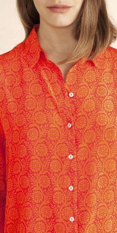 Marimekko Penny Silk Blouse SS16 Marimekko, Ss16, Frocks, Outfit Ideas, Blouses, Style Inspiration, Sweaters, Fashion, Moda