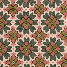 Bomuld+antik+rosa/oliven+tapet+mønster