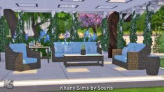 Lana CC Finds - Nice Living Room by Souris (Sims 4)...