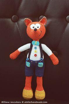 Crochet fox pattern: Vasilik by AtelierHandmadecom on Etsy