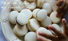 "Mara Macarons - These really are the easiest and yummiest macarons! I tried the macarons the ""official"" way, and failed miserably. I decided to use my faithful thermomix, and found this recipe. It really is that simple! Almond Recipes, My Recipes, Cooking Recipes, Favorite Recipes, Cooking Tips, How To Make Macarons, Making Macarons, Macaron Template, Kitchen Machine"
