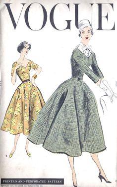 Framed in powder room? 1950s Misses Dress