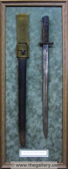 Custom shadowbox for WW1  bayonet