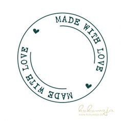 handmade with love Motivstempel Made with Love Vintage - Kombistempel Bakery Logo Design, Branding Design, Diy Crafts To Do, Paper Crafts, Custom Stamps, Vintage Design, Embroidery Patterns, Cricut, Clip Art