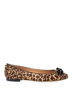 Varina leopard-print calf-hair flats | Salvatore Ferragamo | MATCHESFASHION.COM US