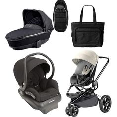 Quinny Moodd Complete Collections - Black. Buzz Footmuff - Black. Tukk Bassinet. Quinny Moodd Stroller Bold Block Red. Mico AP Infant Car Seat. Black Fashionable Diaper Bag.