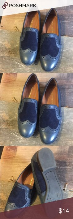 Franco Sarto $80 Retail-Macy's Blue Suede Shoes 🎤 LIKE NEW!!! Blue, blue, blue suede shoes!🎤Genuine leather upper. Wingtip toe.  $80 at Macy's.   Size 7.5M Franco Sarto Shoes Flats & Loafers