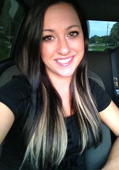 Black hair with blonde extensions underneath :D