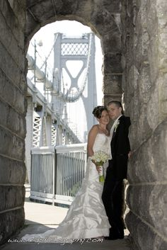 Elissa Davidson, EID Photography, took this unique photo of a just-married couple in the tower of the FDR/Mid-Hudson Bridge in Poughkeepsie, NY!