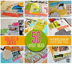 Tons and Tons of Scrapbook Layouts