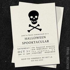 customized printable halloween invitation by moonstonepaperie, $15.00