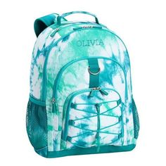 Gear-Up Ceramic Pool Tie-Dye Backpack ($45) ❤ liked on Polyvore featuring bags and backpacks