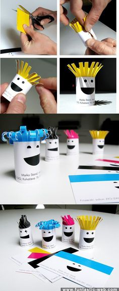 Clever Business Card/Paper Art  http://www.arcreactions.com/#services