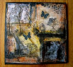Christmas tree Mixed Media Canvas | Artsy Butterfly: New Photo Collage Painting . . .