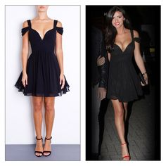 Lucy Mecklenburgh wearing sweetheart neckline skater 'Lily'.