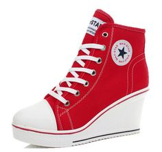 Trainers-Wedges-Heels-Sneakers-Platform-High-Hi-Top-Ankles-Lace-Ups-Zip-Boots-UK