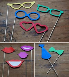 DIY Photo Booth Props - Wedding Tutorial