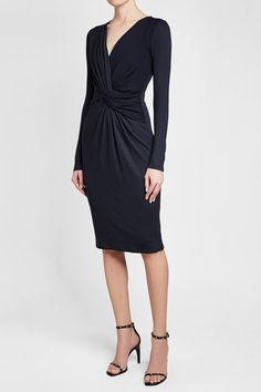 Max Mara Knot Front Knit Dress with Wool Blue Fashion, Luxury Fashion, Dresses For Work, Formal Dresses, Knit Dress, Knots, Fashion Online, Wool, Knitting