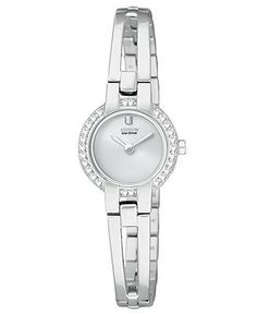 Citizen Watch, Women's Eco-Drive Stainless Steel Bangle Bracelet 21mm EW9990-54A - Citizen - Jewelry & Watches - Macy's