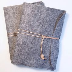 Two notebooks/journal sewn by me in felt case sewn by me.