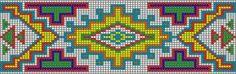 Sioux beaded bracelet pattern