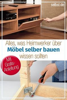 Möbel selber bauen Whether upcycling or building furniture yourself – our most creative ideas as a guide can be found here >> by yourself # furniture Diy Furniture Building, Diy Furniture Plans, Woodworking Furniture, Teds Woodworking, Beginner Woodworking Projects, Woodworking Techniques, Ikea I, Diy Tumblr, Home Decor Trends