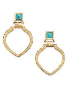 Stephanie Kantis - Tier Turquoise Door-Knocker Earrings