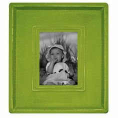 "Embossed Plain Frame - Spring Green (4 x 6"")  Maybe for a modern detail coupled with the black and white zig zag (if we are having a boy)."
