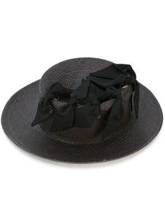 Federica Moretti bow trim hat | Architect's Fashion