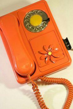 Orange retro phone so missed the days now..