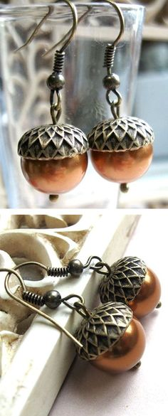 Adorable Acorn Earrings ❤︎