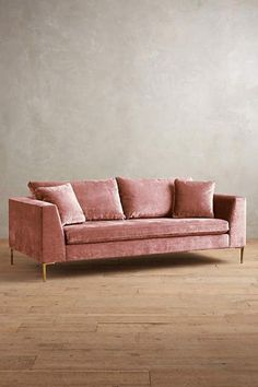 Slub Velvet Edlyn Sofa - Anthropologie - anthropologie.com