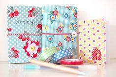 Fabric Covered Moleskin Notebooks tutorial
